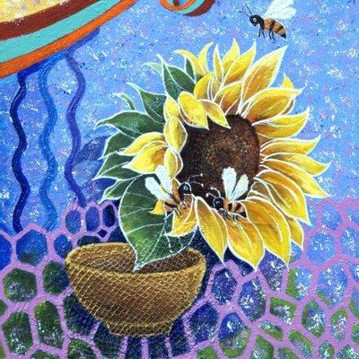 [A1263-0016] 행복한날( 해바라기 꿀벌사랑) 17ㅡ2