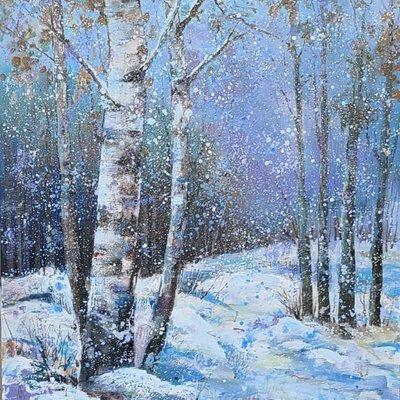 [A1263-0043] 자작나무( 겨울 눈오은 날 19ㅡ3)