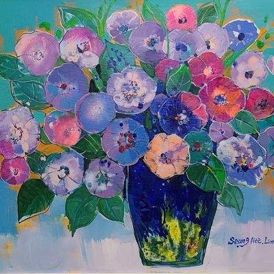 [A1263-0062] 사랑 이야기 (꽃.정물화21-2)