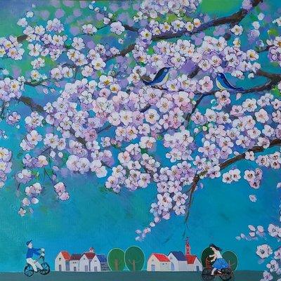 [A1263-0084] 화려한 봄날 (벗꽃)21-2