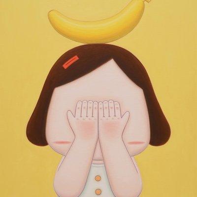 [A1354-0036] 얼굴을 가린 소녀_바나나