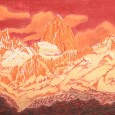[A1429-0003] Mt. Fitz Roy ( 아르헨티나 파타고니아 지역의  피츠 로이 산의 노을 전경)