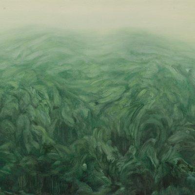 [A1463-0001] 안개속으로 사라지는 초록색 산